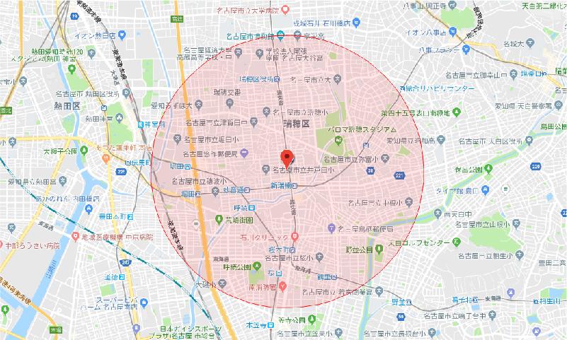 新端校サービス対象 地図